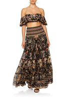 SHEER TIERED CIRCLE SKIRT FRIEND IN FLORA