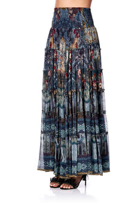 SHEER TIERED CIRCLE SKIRT HOTEL BOHEME