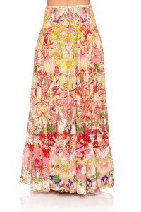 SHEER TIERED CIRCLE SKIRT KIMONO KISSES