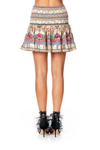 SHORT SHIRRED SKIRT MONTMARTRE HEART