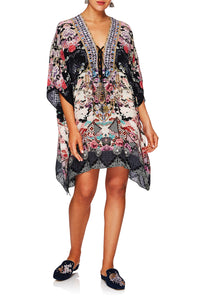 NIGHTS WITH HER SHORT LACE UP KAFTAN