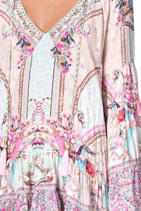 A-LINE GATHERED PANEL DRESS CAROUSEL MADEMOISELLE