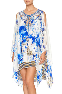 SHEER LAYERED DRESS WITH SPLIT SAINT GERMAINE