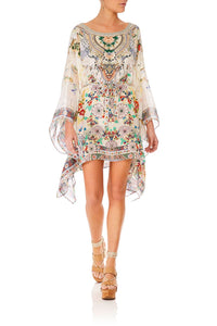 CAMILLA TIME AFTER TIME SHORT KAFTAN W SHEER SLEEVE