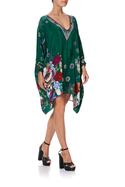 SHORT KAFTAN WITH CUFF EMERALD'S ORBIT