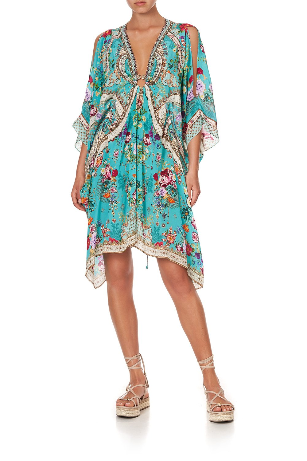 SHORT KAFTAN WITH HARDWARE A SONNET FOR SATINE