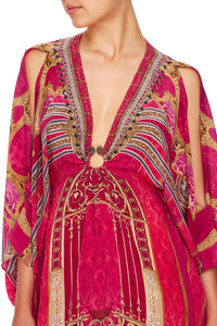 CAMILLA SHORT KAFTAN WITH HARDWARE LOUNGE HOUR