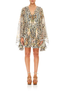 CAMILLA SHORT KAFTAN WITH PLEAT BODICE MOTO MAIKO