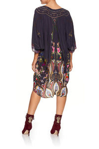 CAMILLA SHORT KAFTAN WITH RAGLAN SLEEVE WILD FLOWER