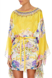 SHORT KAFTAN WITH SHEER SLEEVE MELLOW MUSE