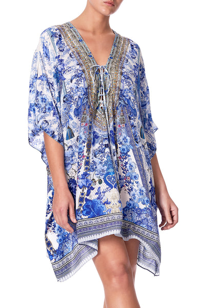 SHORT LACE UP KAFTAN PAINTED PROVINCIAL