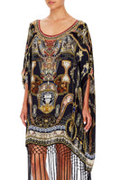 CAMILLA SHORT ROUND NECK KAFTAN MIDNIGHT MEETING