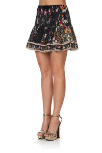 SHORT SHIRRED SKIRT MIRROR MIRROR