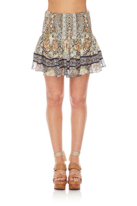 CAMILLA SHORT SHIRRED SKIRT MOTO MAIKO