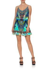 SHORT SHIRRED SKIRT REEF WARRIOR