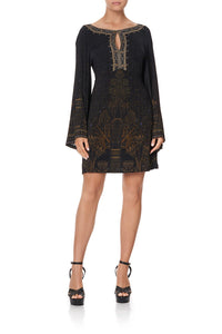 SHORT WIDE SLEEVE JERSEY DRESS COBRA KING