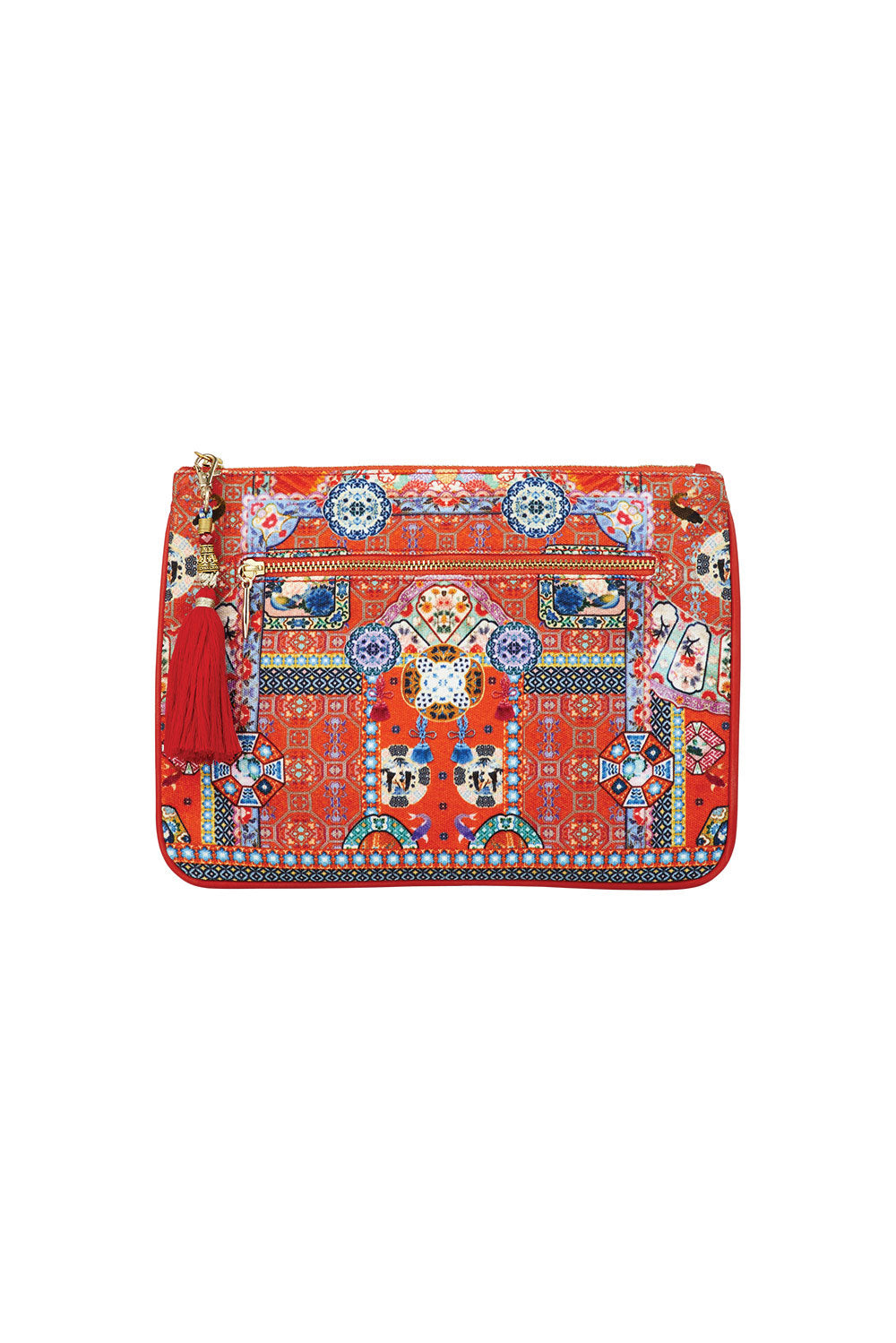CAMILLA FOUND IN TRANSLATION SMALL CANVAS CLUTCH