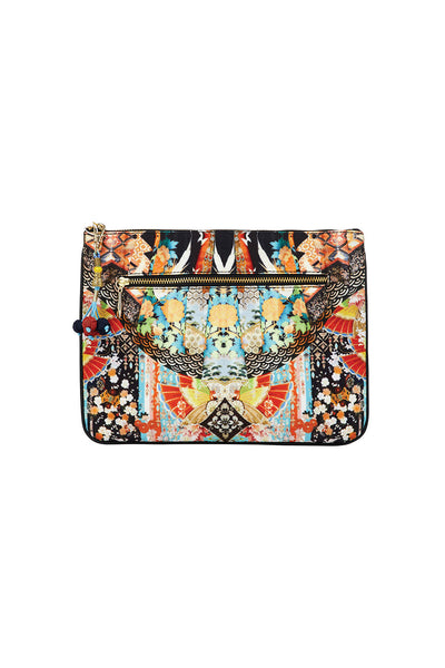 CAMILLA GALAXY GIRL SMALL CANVAS CLUTCH