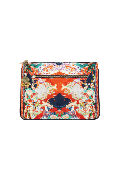 CAMILLA GEISHA GIRL SMALL CANVAS CLUTCH