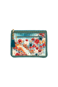 HER HEIRLOOM SMALL CANVAS CLUTCH
