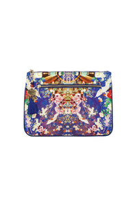 CAMILLA MAIKOS MIDNIGHT SMALL CANVAS CLUTCH