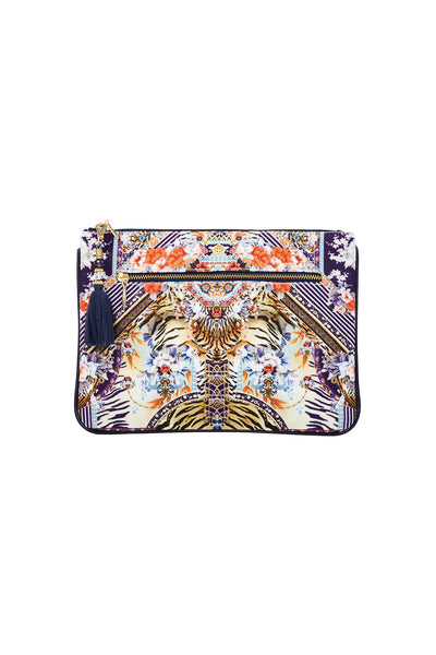 CAMILLA THE LONELY WILD SMALL CANVAS CLUTCH