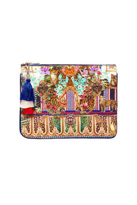 SMALL CANVAS CLUTCH CHAMPAGNE COAST