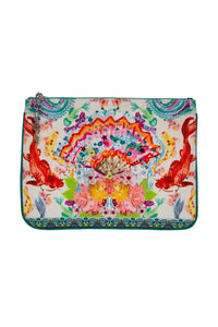 CAMILLA DRAGON DIVINITY SMALL CANVAS CLUTCH