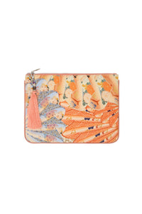 CAMILLA FOR THE FANS SMALL CANVAS CLUTCH