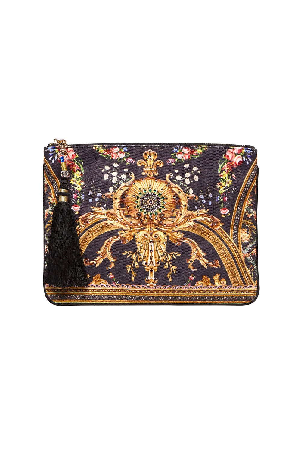 CAMILLA SMALL CANVAS CLUTCH FRIEND IN FLORA