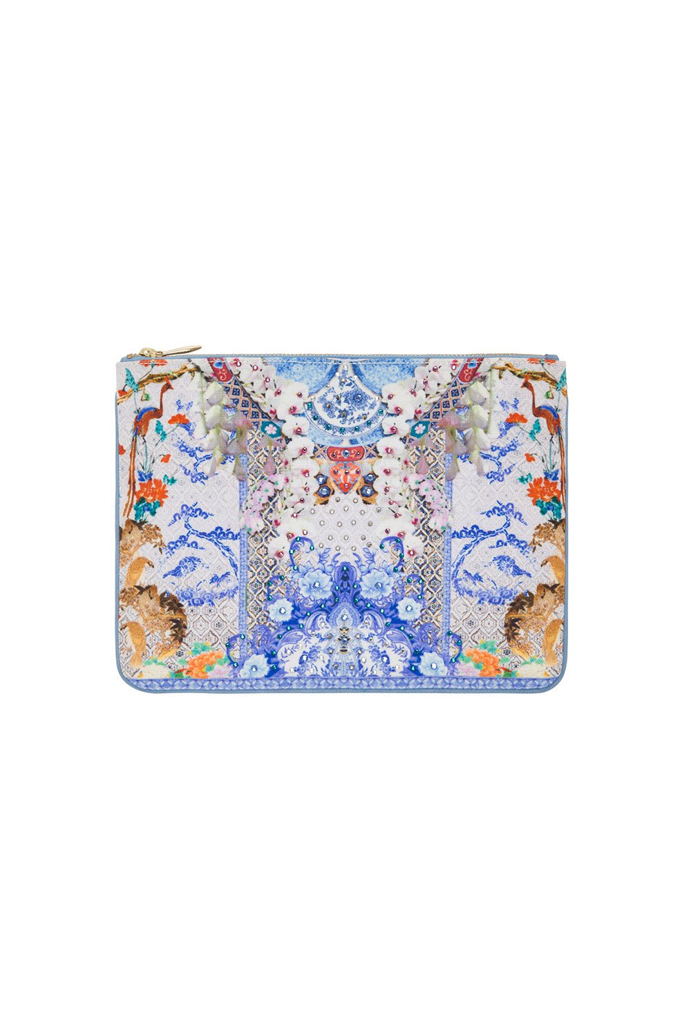 CAMILLA SMALL CANVAS CLUTCH GEISHA GATEWAYS