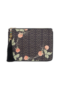 CAMILLA SMALL CANVAS CLUTCH PROVINCIAL PETAL