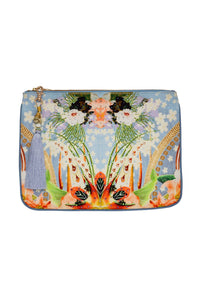 CAMILLA THE STILL ABYSS SMALL CANVAS CLUTCH