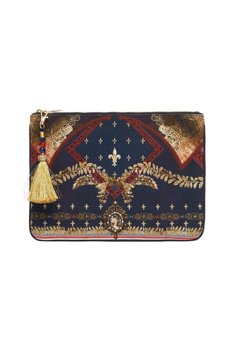 CAMILLA SMALL CANVAS CLUTCH THIS CHARMING WOMAN