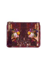CAMILLA SMALL CANVAS CLUTCH WILD FLOWER
