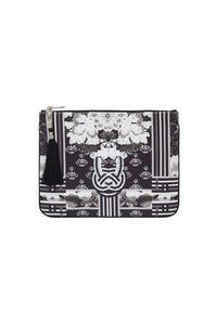 CAMILLA WILD MOONCHILD SMALL CANVAS CLUTCH