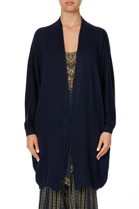 SOFT KNIT PONCHO WITH CRYSTALS GREAT SCOTT