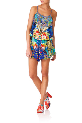CAMILLA SPACE COWGIRL SHOESTRING PLAYSUIT
