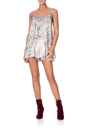 d9a131bdaa7 FLARED PLAYSUIT WITH OVERLAYER CRYSTAL CASTLE (XS)
