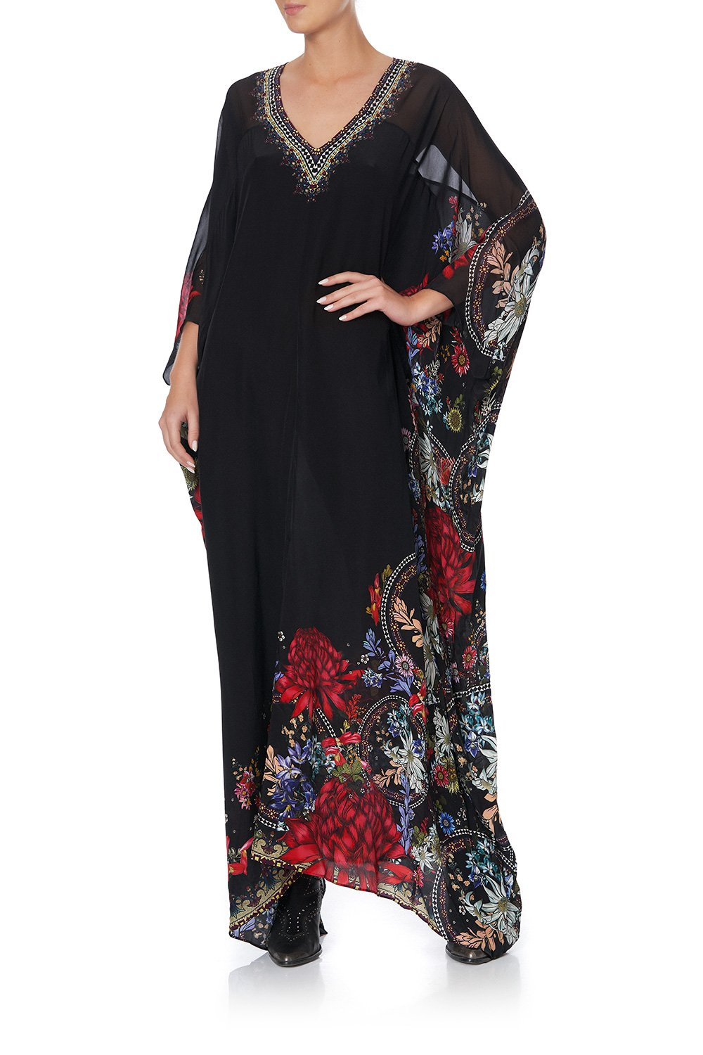 SPLIT FRONT KAFTAN WITH SEAMS MS MATILDA
