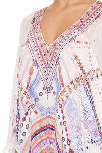 SPLIT FRONT KAFTAN WITH SEAMS TANAMI ROAD