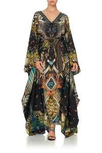 SPLIT HEM LACE UP KAFTAN MATERNAL INSTINCT