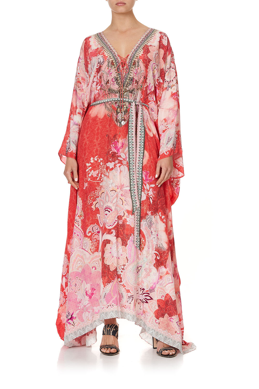 SPLIT HEM LACE UP KAFTAN PALACE MUSE