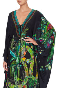 SPLIT HEM LACE UP KAFTAN RIVER CRUISE