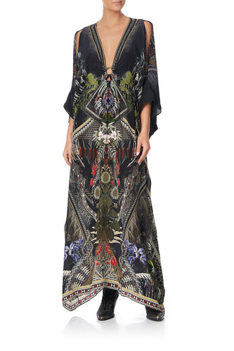 SPLIT SLEEVE KAFTAN WITH HARDWARE BOTANICAL CHRONICLES