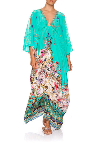 SPLIT SLEEVE KAFTAN WITH HARDWARE FLORAISON