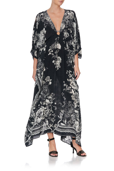 SPLIT SLEEVE KAFTAN WITH HARDWARE MOONSHINE BLOOM