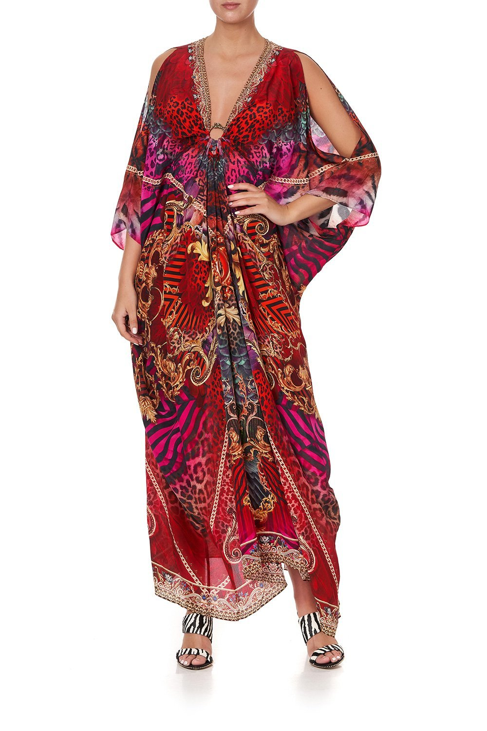 SPLIT SLEEVE KAFTAN WITH HARDWARE SLAVE TO THE RHYTHM