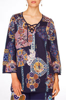 CAMILLA STAR GAZER WIDE SLEEVE KNIT W TIE FRONT