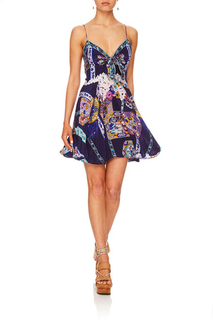 255f286374a SHORT DRESS WITH TIE FRONT STAR GAZER (L)